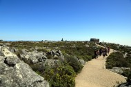Landscape atop Table Mountain looking back toward cable car and initial good level paths