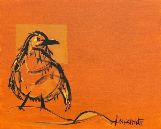 Penguin, size 16x20 in., canvas giclée print available in size R4