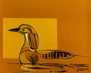 Loon, size 16x20 in., original sold, canvas giclée print available in size R4