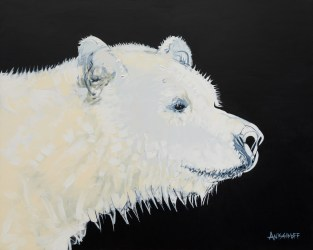 Spirit Bear, size 48x72 in., original sold, canvas giclée print available in size R5,R13
