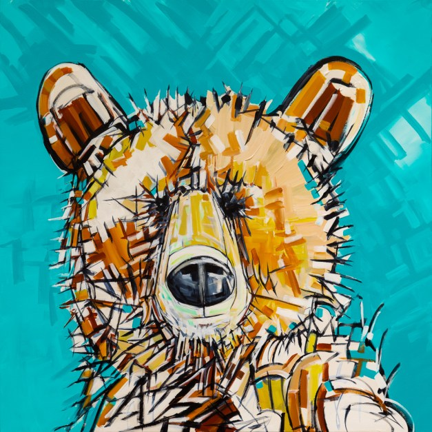 Impression Bear, size 48x48 in., canvas giclée prints available in size S2,S3,S4,S5