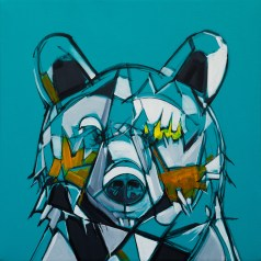 Surface Series - Bear, size 24x24in., canvas giclée prints available in size S1,S2