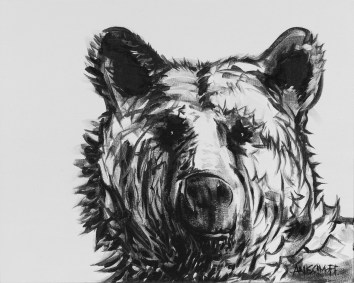 Neutral Bear, size 16x20 in., canvas giclée print available in size R2