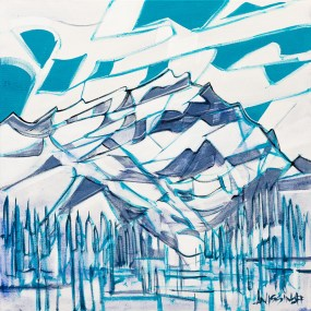 Banff, original size 20x20 in., original sold, canvas giclée print available in sizes S1,S2
