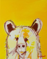 Electro Bear, original size 16x20 in., original sold, canvas giclée print available in sizes R2,R4