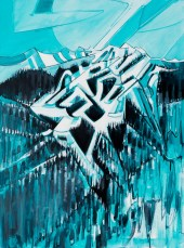 Blueberry2Blackcomb series #1, original size 43x58 in., original $4500, canvas giclée print available in sizes R1,R3,R6