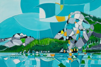 Squamish, original size 48x72 in., original sold, canvas giclée print available in size R5,R9,R11,R13