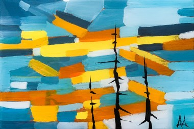 Yukon Sun, original size 12x18 in., original not available, canvas giclée print available in sizes R0
