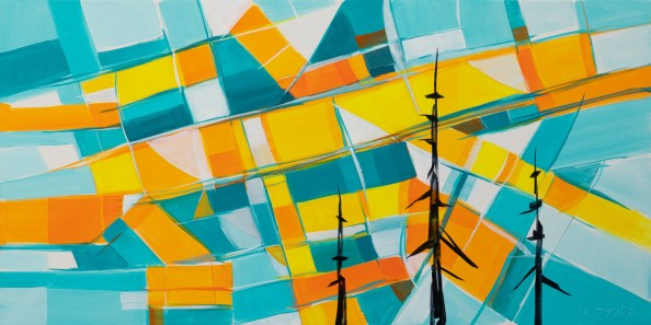 Yukon Sunset, original size 24x48 in., original $2300, canvas giclée print available in sizes L1,L2,L4