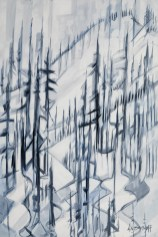 Off Piste, size 48x72 in., original sold, canvas giclée print available in size R5,R13