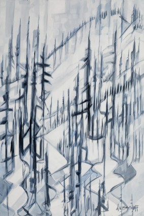 Off Piste, size 48x72 in., original $3900, canvas giclée print available in size R5,R13