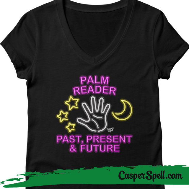 Neon Psychic Sign Palm Reader Readings Fortune Teller Shirt Apparel Casper Spell