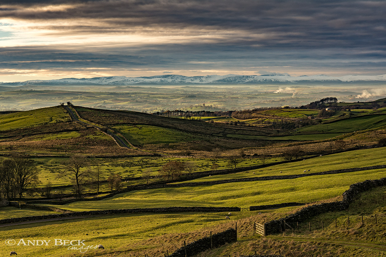 The Eden valley from Stainmore Pass