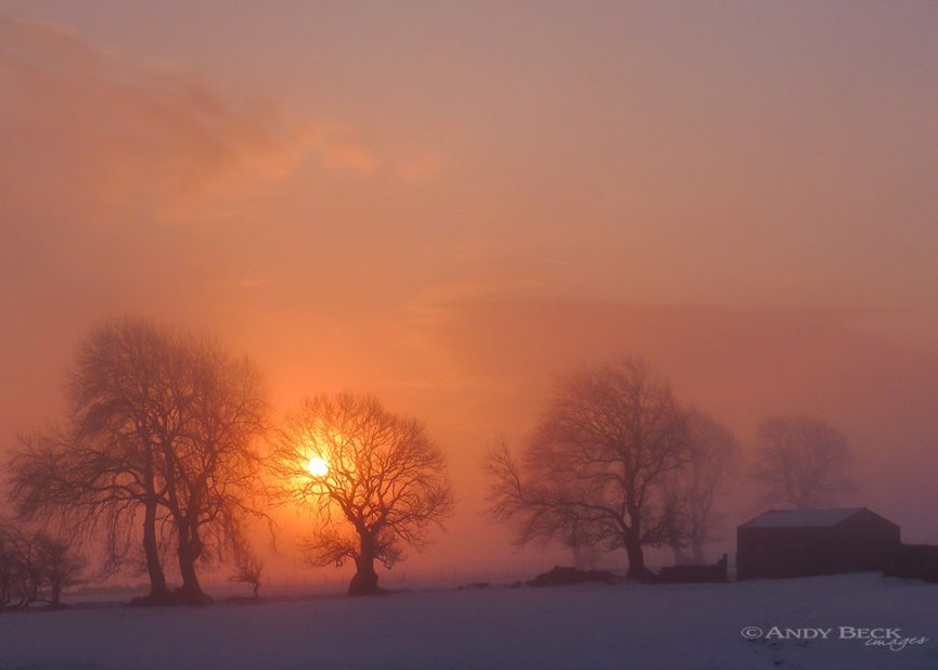 A new day dawns, near Gilmonby, Teesdale