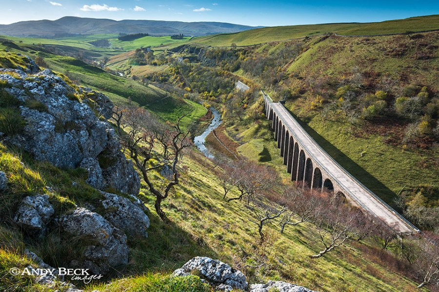 Smardale viaduct and the Howgill Fells