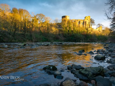 Barnard Castle and the River Tees.