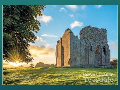 Bowes Castle postcard