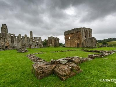 Egglestone Abbey in the rain