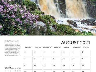 Teesdale calendar 2021 August