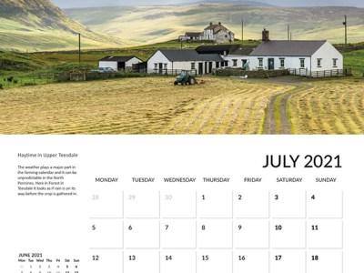 Teesdale calendar 2021 July