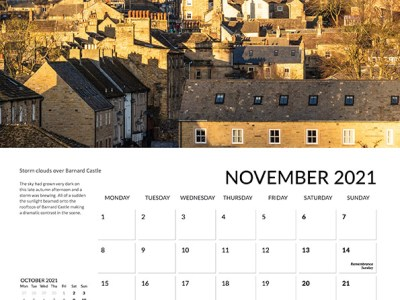 Teesdale calendar 2021 Nov