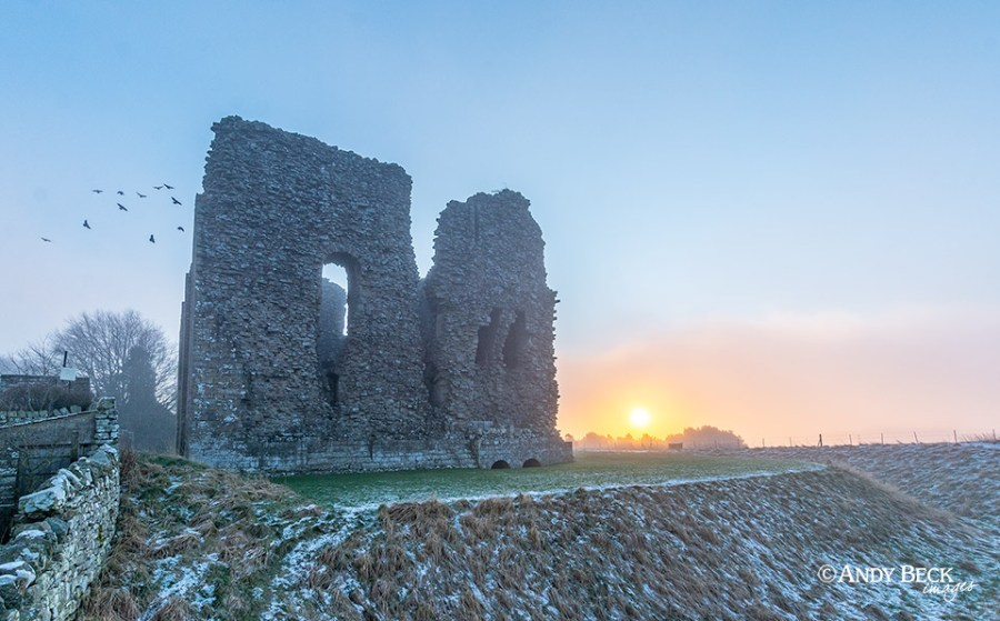 Foggy sunrise, Bowes Castle