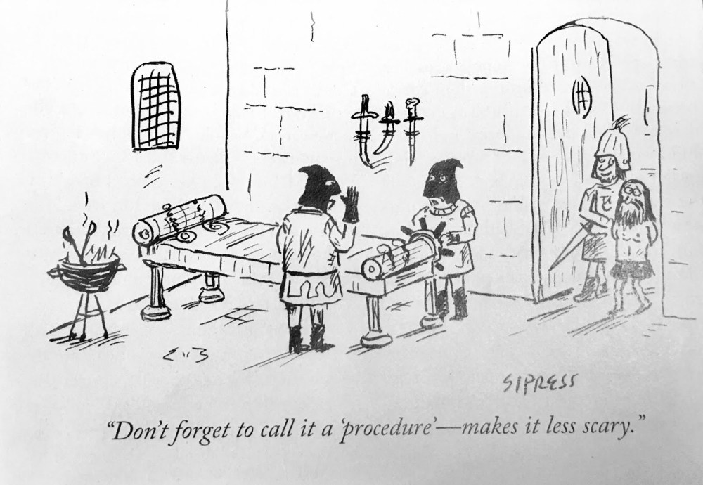 medium resolution of leading up the the procedure someone sent me this funny cartoon