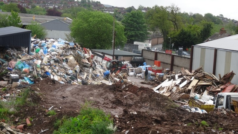 It's rubbish and it's piled high in Ludlow
