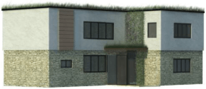 New house with sedum roof proposed at Brook Cottage, Fishmore Road, Ludlow