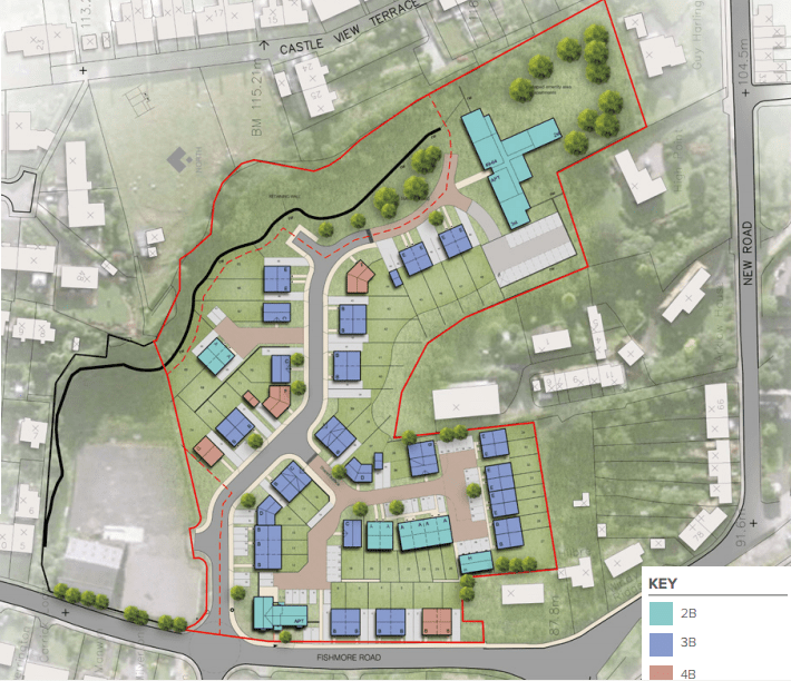 Plans submitted for 74 houses on Fishmore Road, Ludlow – but there is no provision for affordable housing