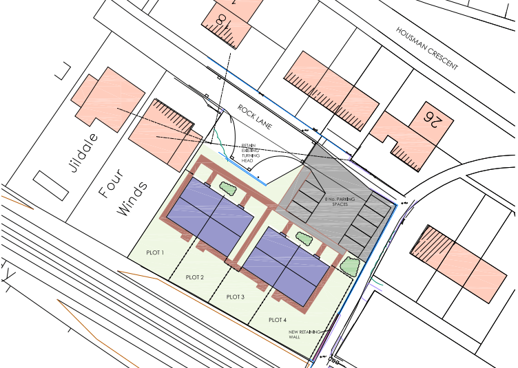 Bungalows proposed for Houseman Crescent and Poyner Close
