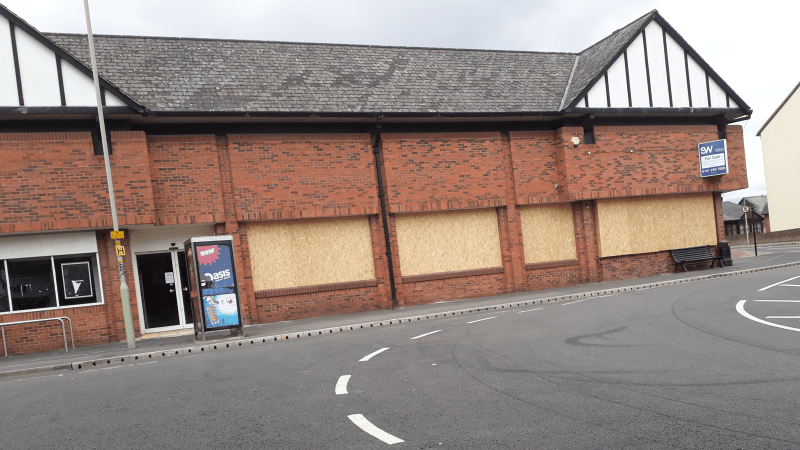 Former Budgens store in Ludlow is now an eyesore