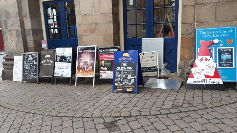 Shropshire Council cabinet votes not to introduce charges for A-Boards – for now