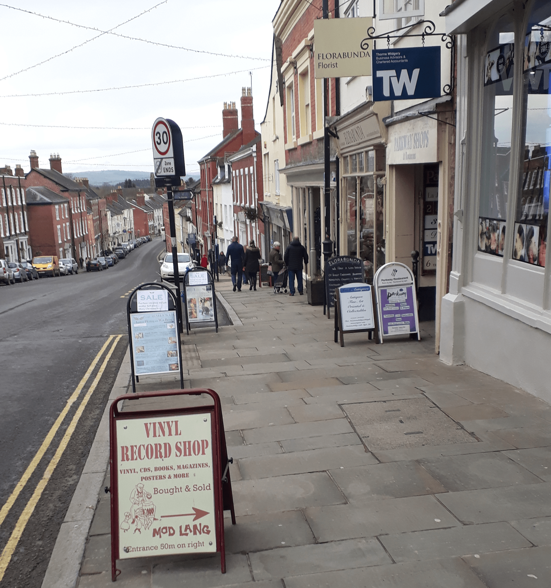 Ludlow is a town of one hundred A-Boards – should we make retailers pay for using the pavement like Liverpool?