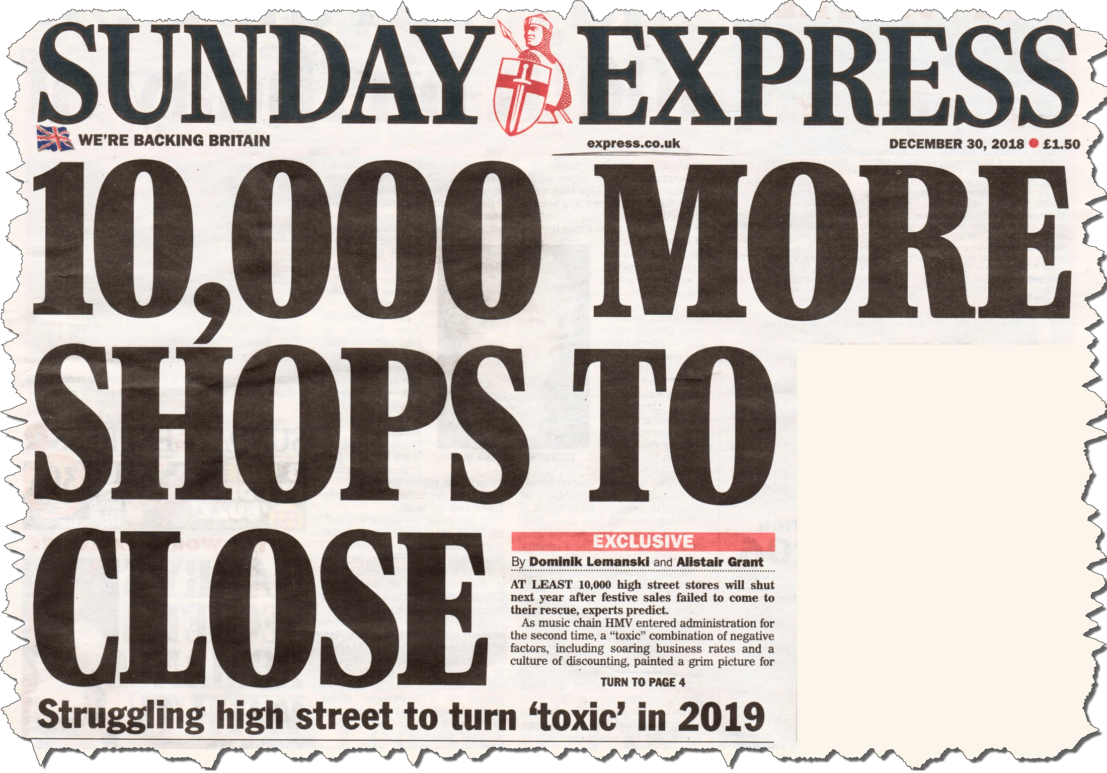 """Pundits predict a """"toxic death"""" for our town centres in 2019. Is that the future for Ludlow?"""