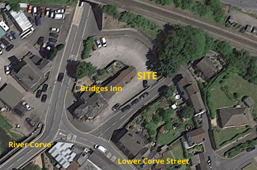 Two homes proposed for the car park of the Bridge Inn on Lower Corve Street