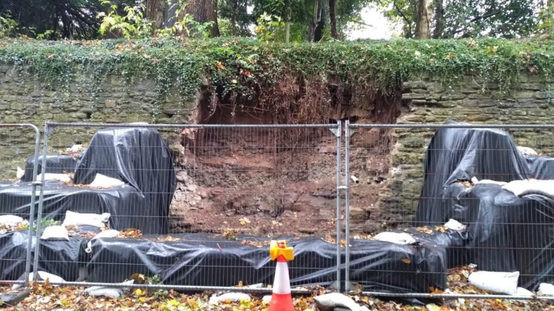 Collapsed Ludford wall at last scheduled for repairs by the summer