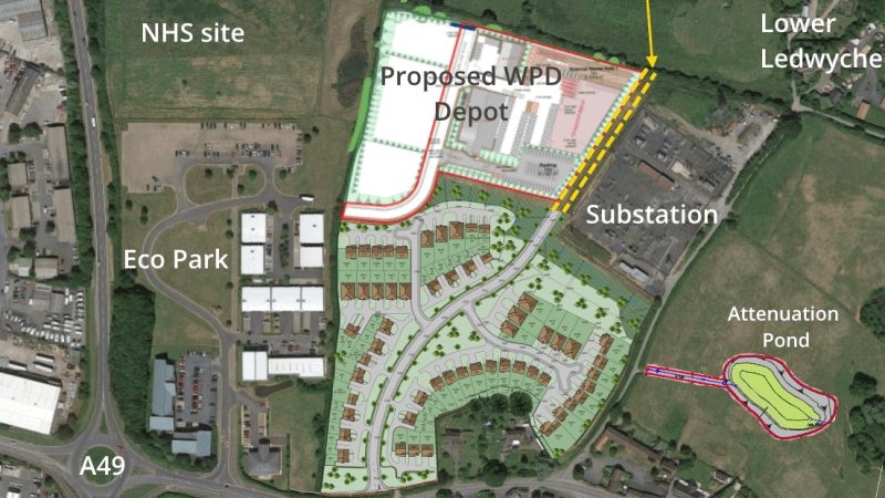 Plans for sixty-eight homes between Sheet Village and the Eco Park published
