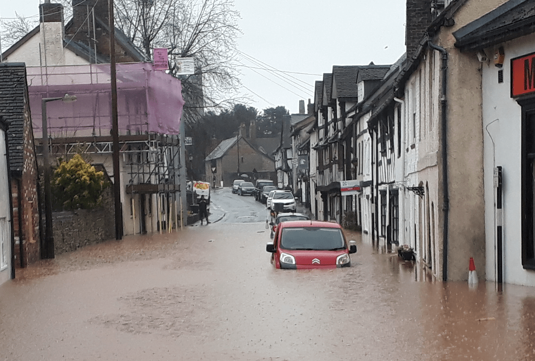 Storm Dennis floods Ludlow homes and businesses