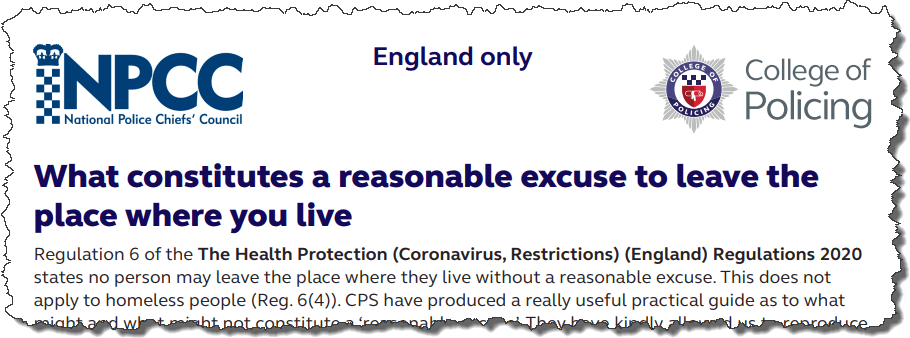 New advice to police will allow us to use socially distanced space and exercise more effectively #coronavirus