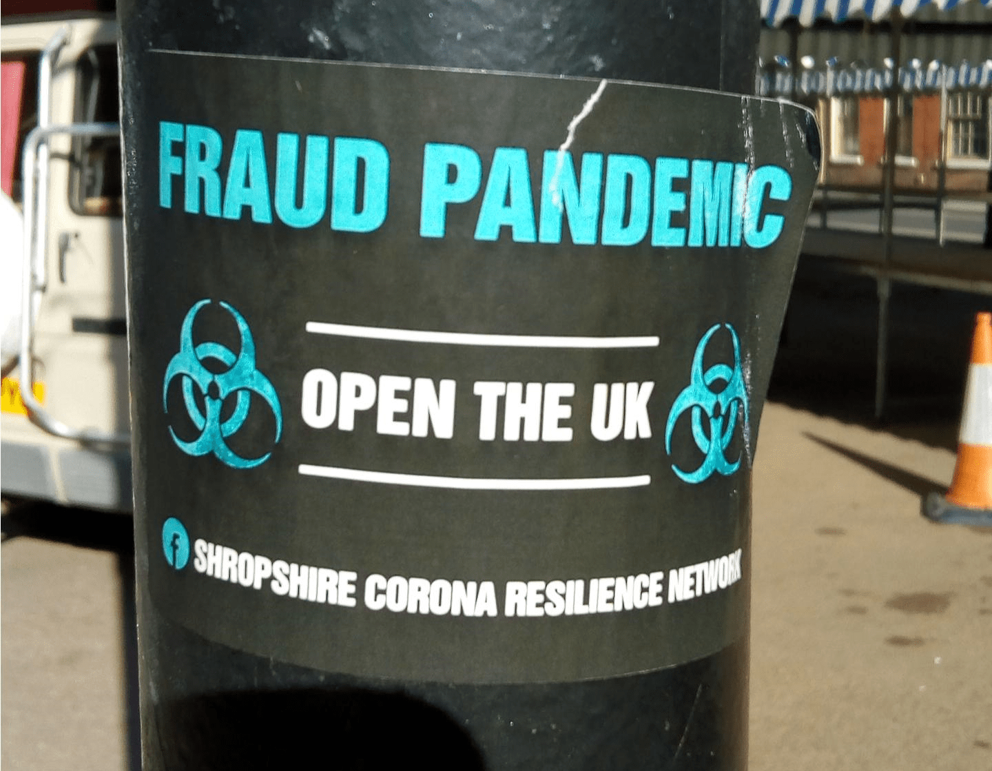 Unwelcome guerrilla Covid-19 signs in Ludlow, scarecrow strangers, and ambiguous signs that lead to fines
