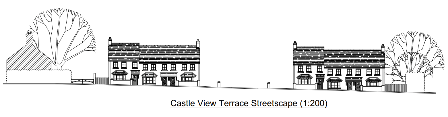 Shropshire Homes new plans for Castle View Terrace are better with extra public open space – but are still unacceptable