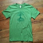 Not Parched t shirt in green custom design