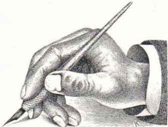 L. M. Kelchner, hand position