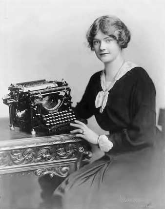 Woman with an Underwood Typewriter