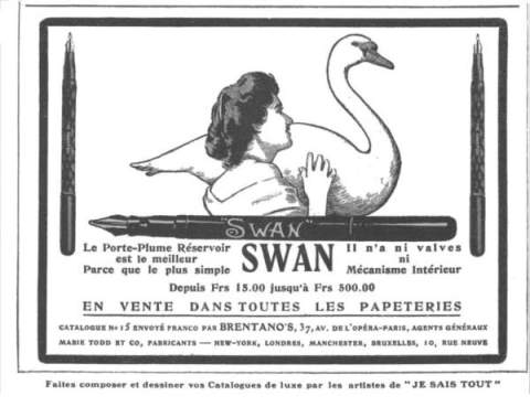 Swan fountain pen ad