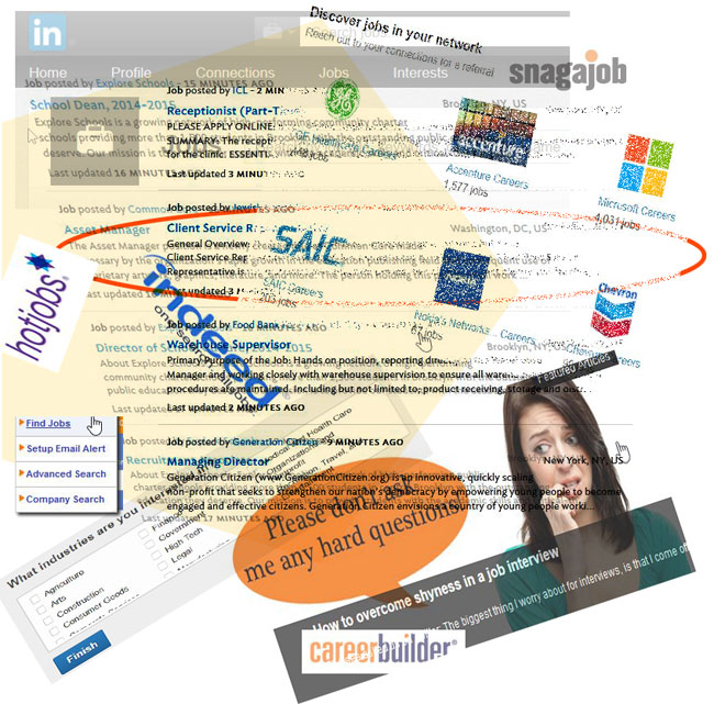 Job Hunting Online Collage - Job Hunting Basics