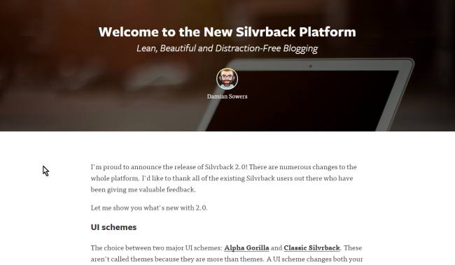 Silvrback sample blog