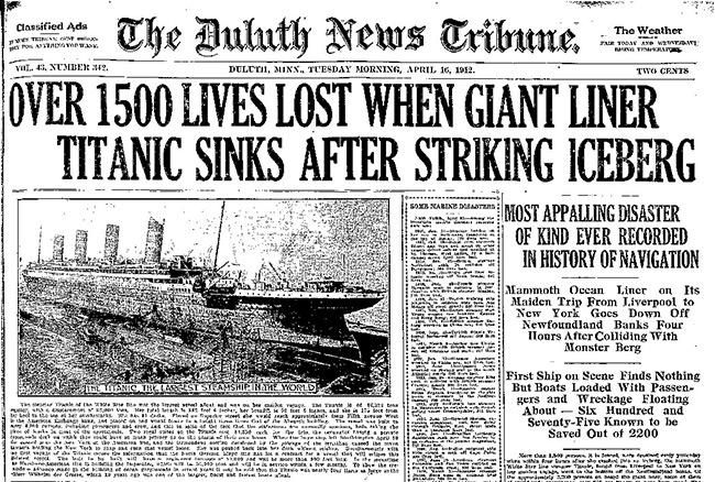 Titanic-Headlines - Markdown for Bloggers, http://andybrandt531.com