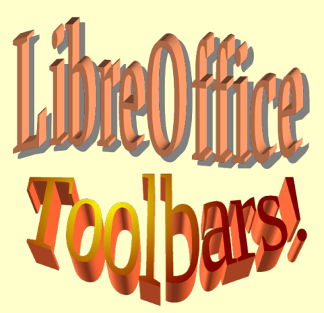 LibreOffice's Toolbars let you do many things, including dramatic but questionable headlines.
